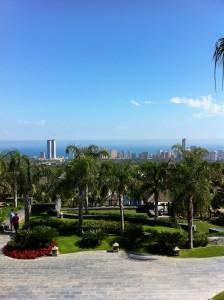 Benidorm view vanaf Asia Gardens Alicante