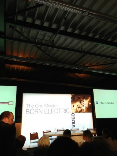 presentatie bmw one minutes born electric
