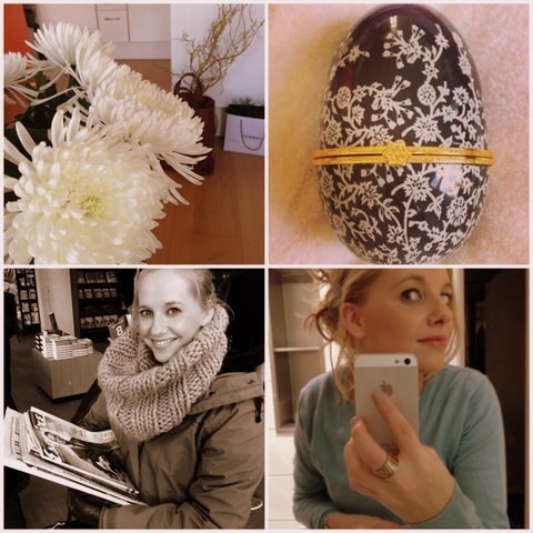 Verse bloemen, een fabergé ei, leesvoer en een nieuwe Joe Merino trui