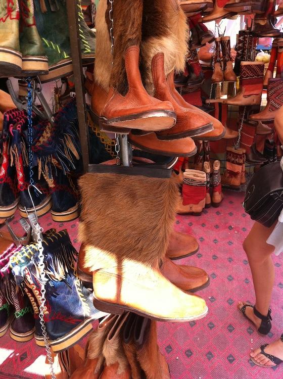 Kelim boots bij Las Dalias Hippie Market