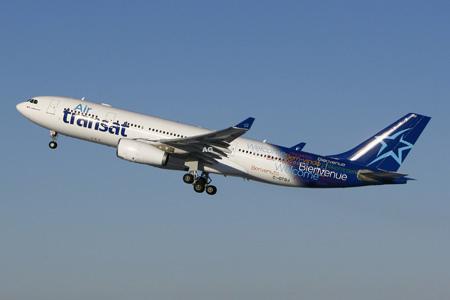 nieuwe look air transat vliegtuigen