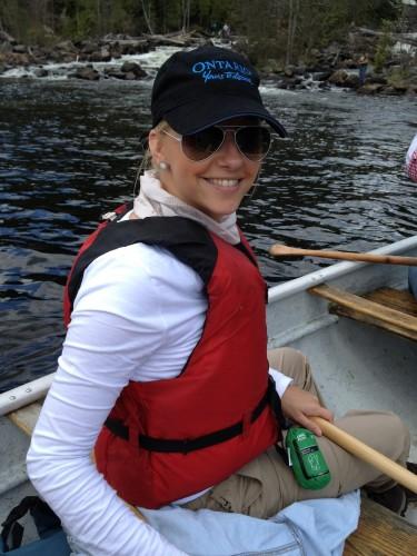 sabinedewitte in de kano