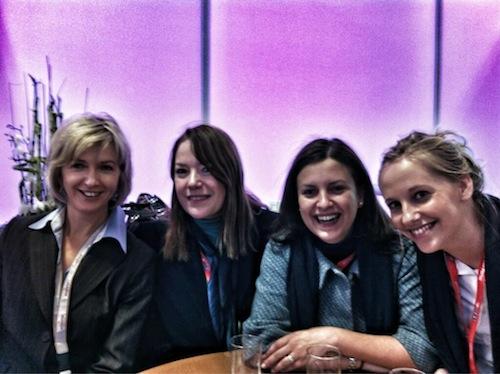 Met Sonia, Ana en de pr-dame van het Movenpick