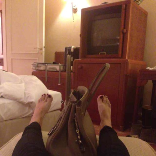 Even chillen in het hotel