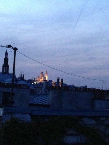 Uitzicht vanaf het loft, de Sacre Coeur
