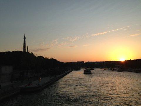 zonsondergang-seine