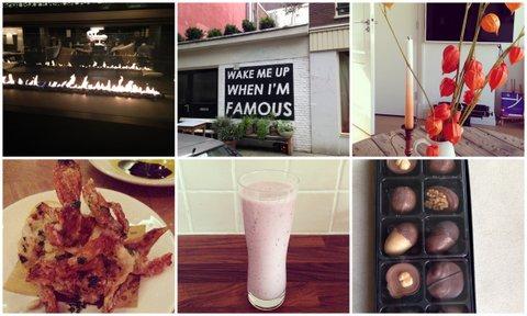 De haard bij 5&33, streetart in de Pijp, herfst in huis, deep fried crab, gezonde smoothie, Squirrel's Stash van Hotel Chocolat